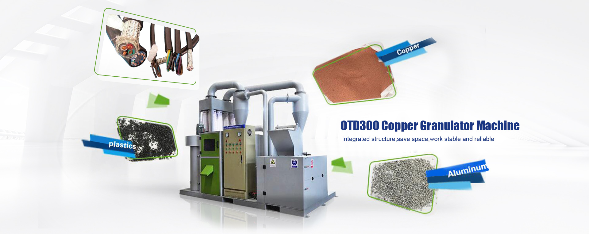 Cable wire granulator recycling machine