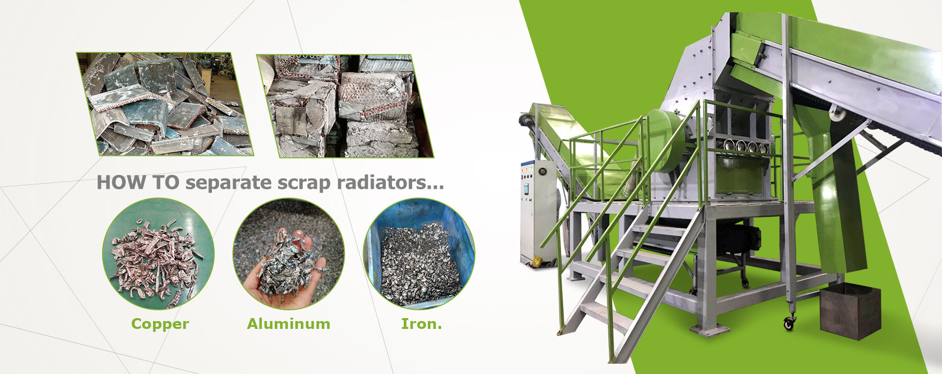 scrap radiator recycling production line