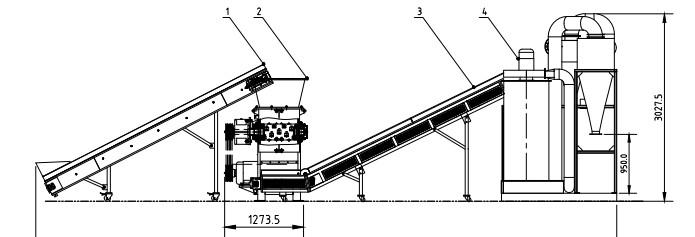 OTD300 Copper Cable Granulator