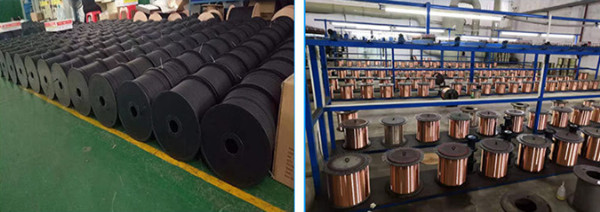 Plastic bobbin spool wire coil for cable wires