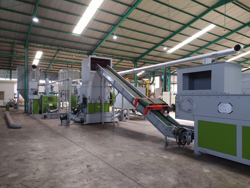 Cable granulator 1000kg per hour plant is building in Indonesia now