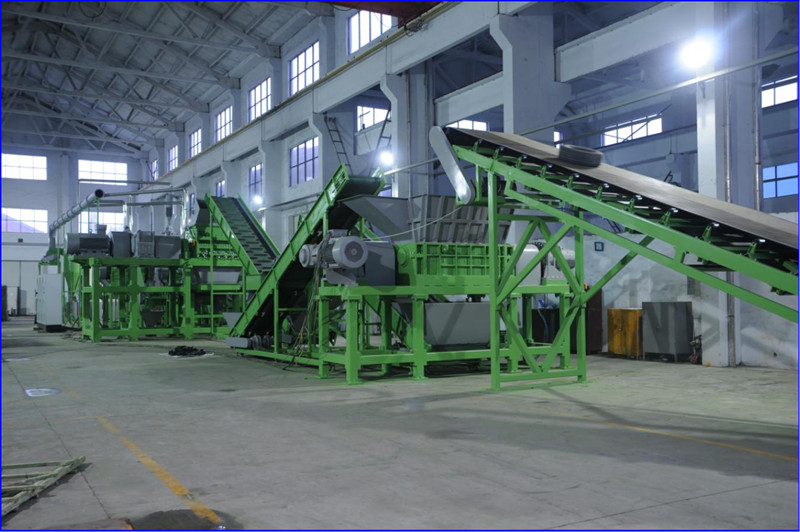 Waste tyre recycling plant rubber crumb machine