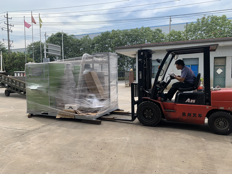 300kg per hour cable granulator deliver to Russia